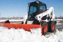 Bobcat nuoma su kaušu: sniego valymas, krovimas